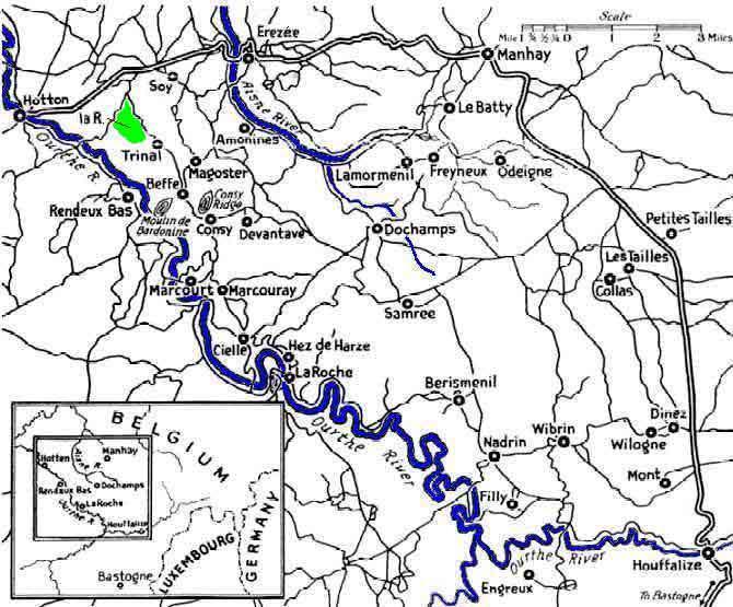 Kaart van het strijdgebied